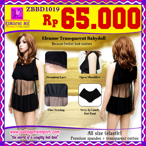 Babydoll Dress Hitam (ZBBD1019)