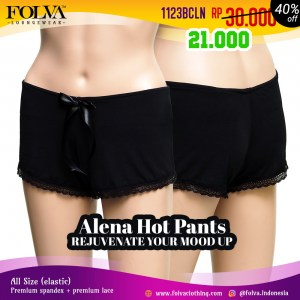Celana Hot Pants Hitam 1123BCLN