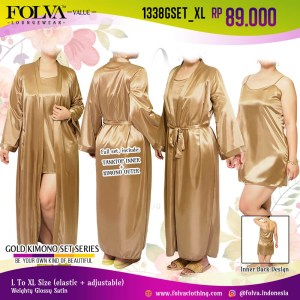 Kimono bridal dress tanktop big size Surabaya 1338GSET_XL by Folva