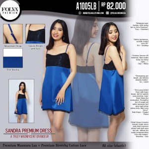 Tanktop Dress Pendek Maxmara Biru A1005LB by Folva Clothing Surabaya